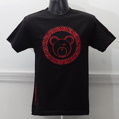 A Bear Tee (Black / Red on Black)