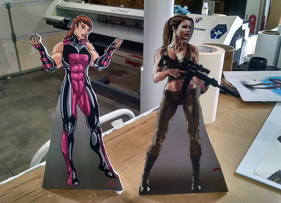 Character cut outs
