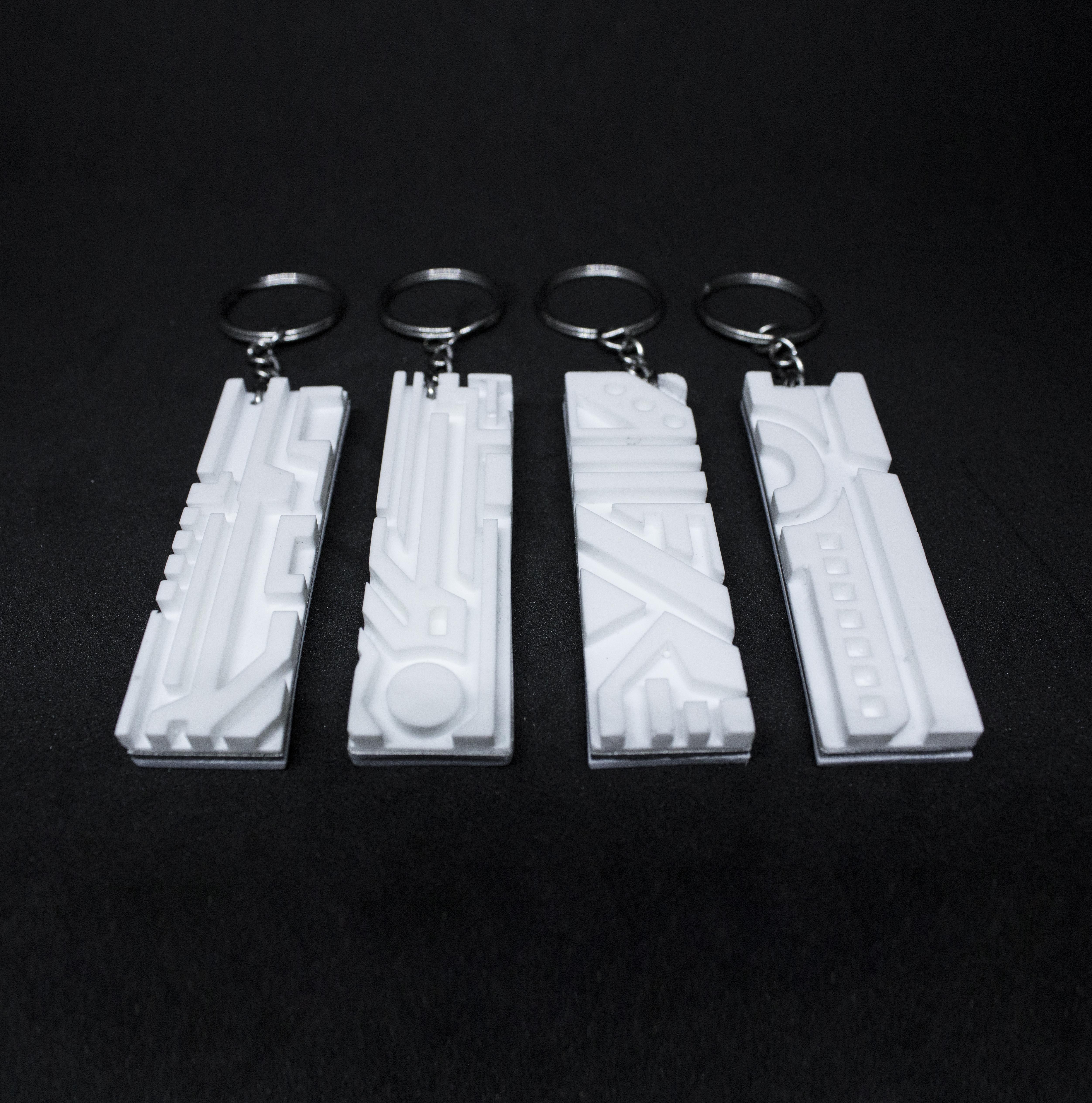 Keychains - White