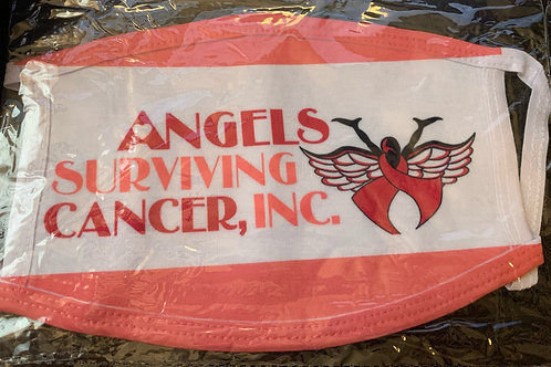 Mask: Angel's Surviving Cancer, Inc with Logo