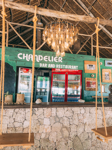 The chandelier bar and restaurant