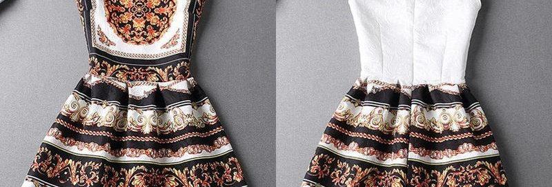 Vintage Back Zip Jacquard Princess Dress