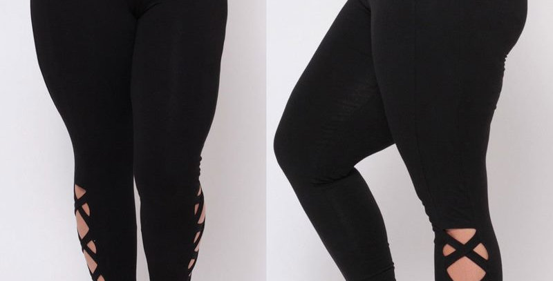 Black Kriss CrossStretch Skinny Legging.