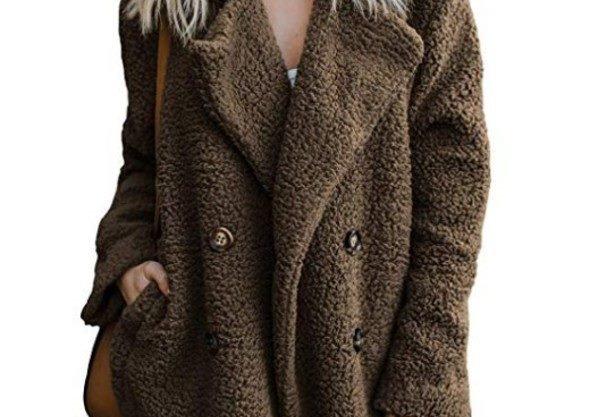 Brown Bear Fluffy Fleece Fur Jacket
