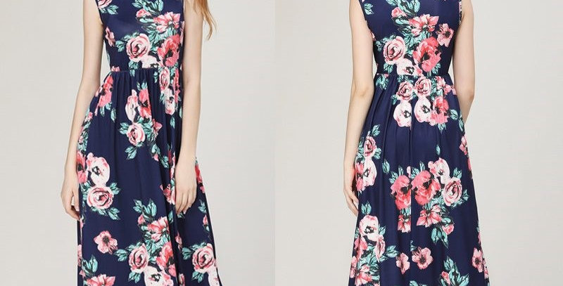 Floral Boutique Holiday Maxi Long Dress