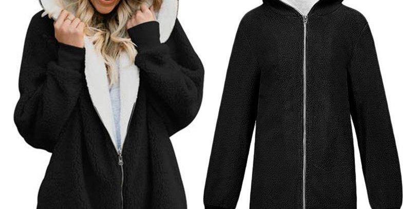 5 x Colours Long Fleece Zip Up Hoodie