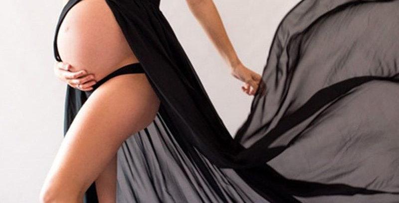 Black Sleeveless t Long Maxi Gown