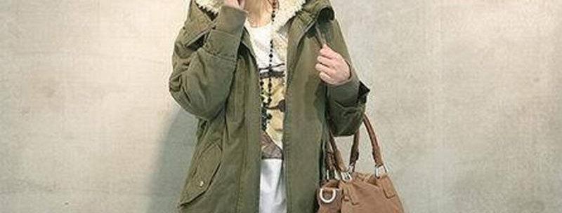 Army Green Warm Winter Zip Up
