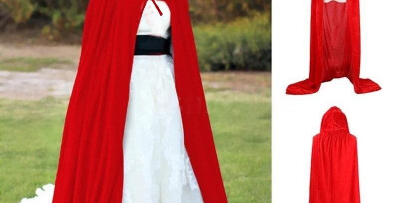 Red Velvet Halloween Cloak