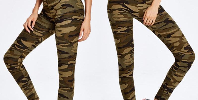 Camouflage High Waist Skinny Leggings