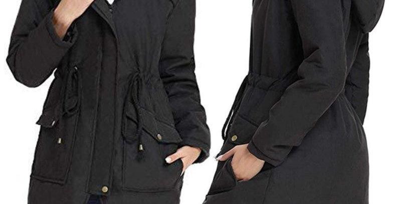 Warm Black  Fleece Fleece Hoodie