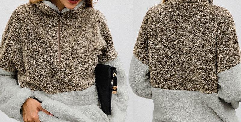 Fur Coat Jacket Sweatshirt