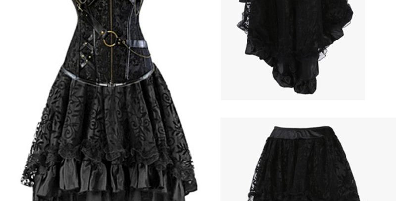 Victorian Lace Ruffle High-Low Swallow Tail Tutu