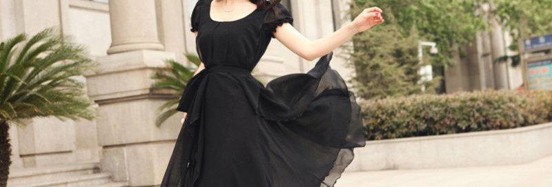 Empire Waist Layered Chiffon Party Long Dress