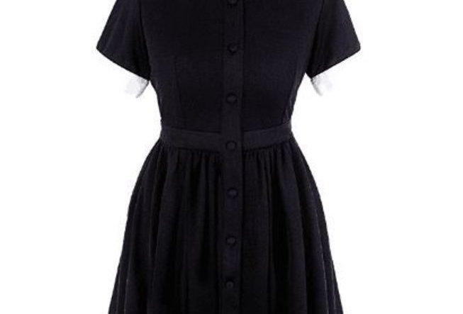 Black Gothic Moon Collar Mini  Party Dress Boho