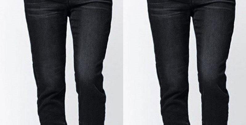 Elastic Waist Skinny Stretch Jeans Casual Pants