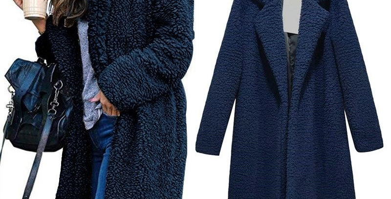 3 x Colours Long Fleece Winter  Coat