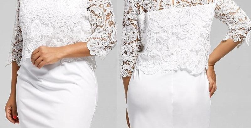 White Floral Crochet Boutique Dress