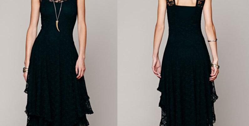 Beautiful Ruffle Maxi Dress