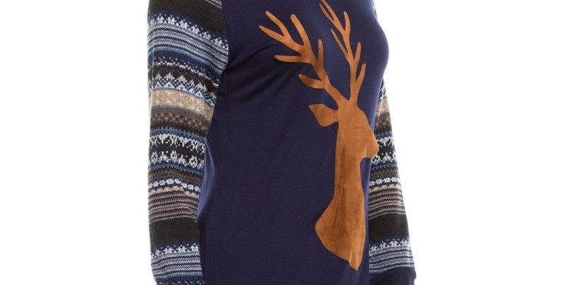 Nordic Pattern Reindeer Long Sleeve