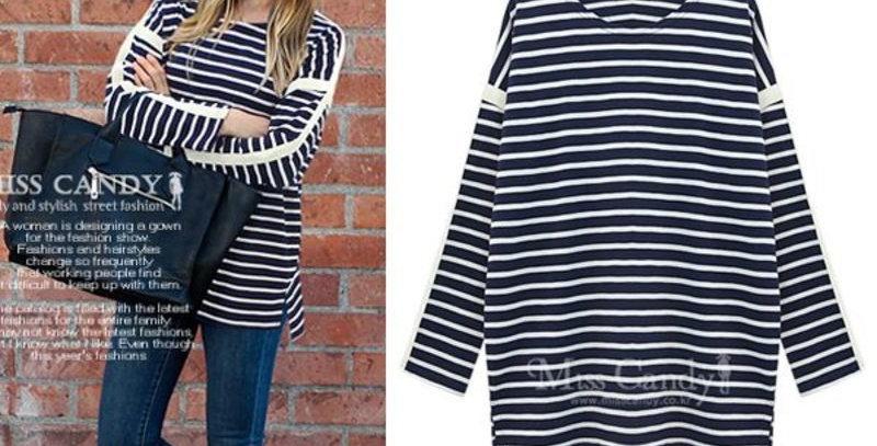Black & White Stripe casual Sweater