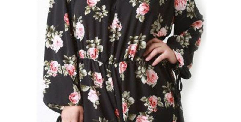 Black Blossom Floral Boutique  Playsuit