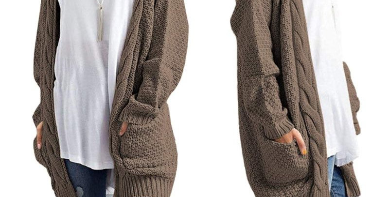Gorgeous Slouch Coffee Brown Cardi