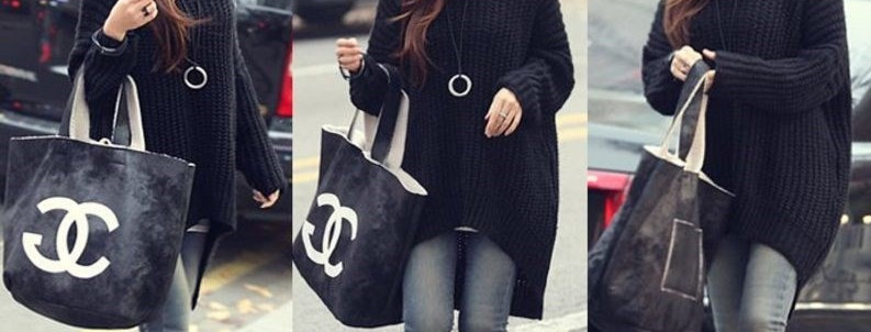 Casual Slouch Thick Knit Hoodie Sweater