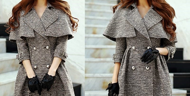 Classic Grey Winter Coat