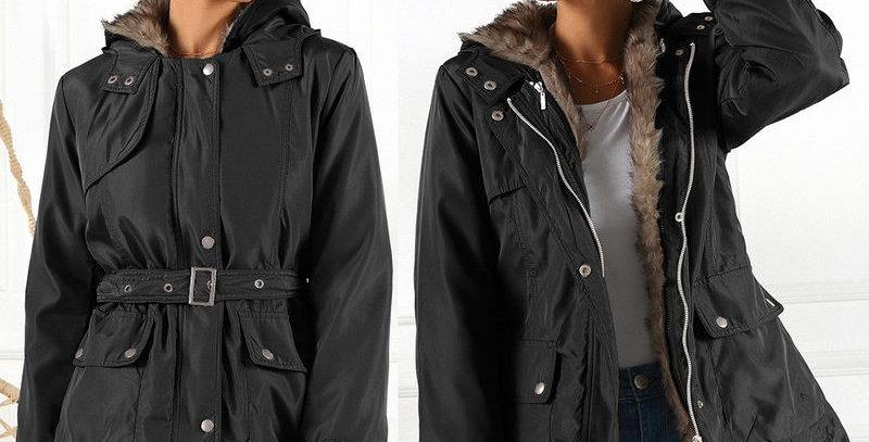 Warm Winter Black Coat Outwear Jacket