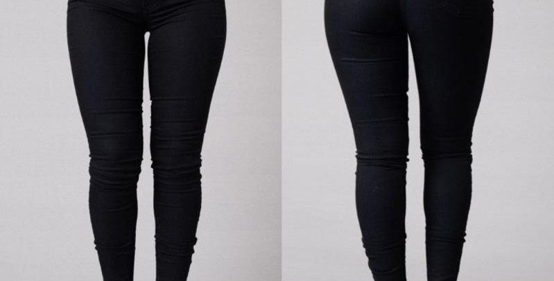 Sexy Black Super Stretch High Waisted Skinny Pants