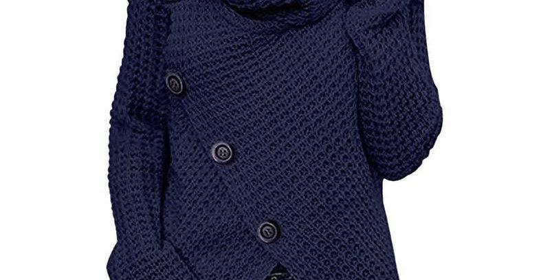 Dark Blue Asymmetric Sweater