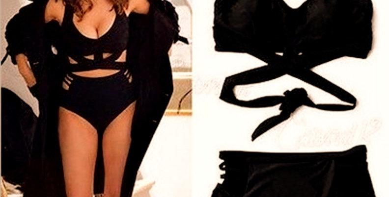 Black High Waisted Bikini Set