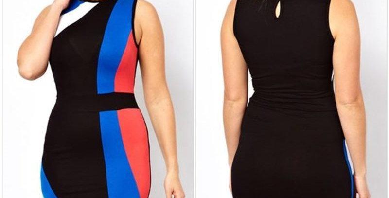Smart Bodycon Multi Colour Dress