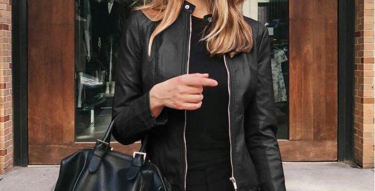 Black Faux LeatherStylish Jacket