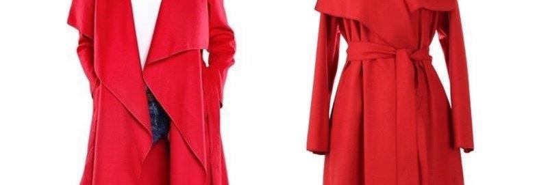 Open Belted  Long Winter Coat