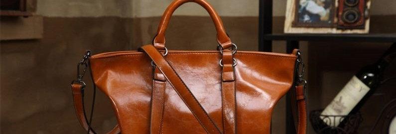 Tan Convertible Women's Shopping Tote Bag