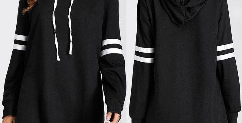 Hoodie Sweatshirt Jumper Dress x 3 Colors