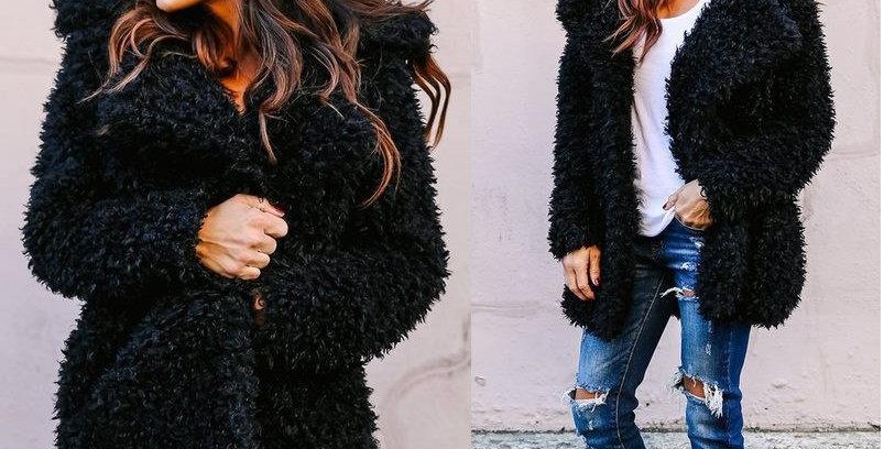 Faux Fur  Winter Wind Coat Jacket  Blazer