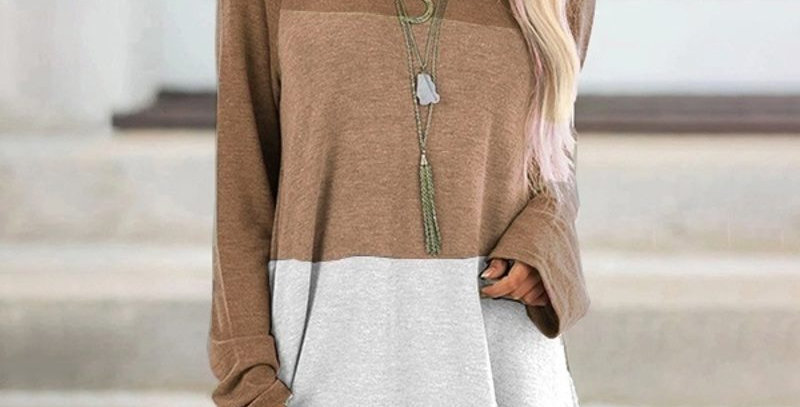 3 Tone Stripe Loose Fit Top