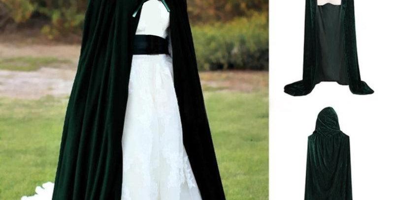 Green Velvet Halloween Cloak
