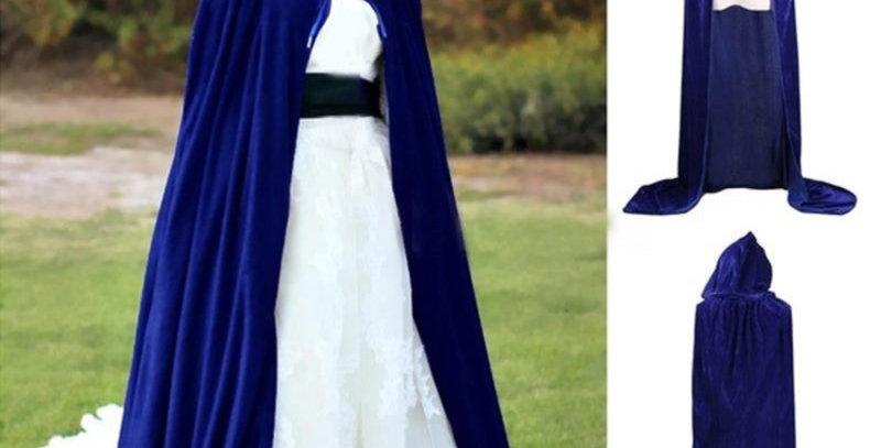 Blue Velvet Halloween Cloak