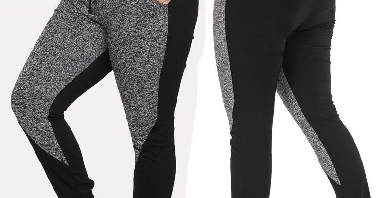 Black & Grey Relaxed Casual  Sweatpants