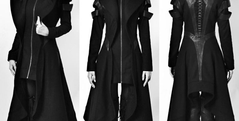 Black Underground Lourdes Vintage Style Cloak
