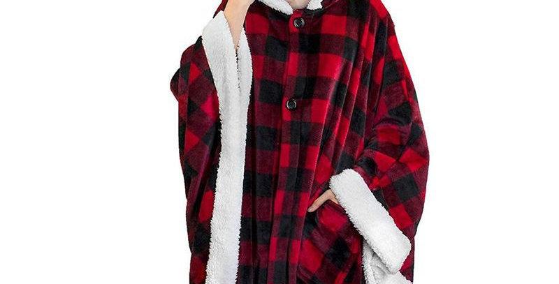 Hoodie Blanket Poncho Cape