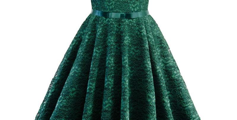 Vintage Retro Floral Lace Boutique Party Dress