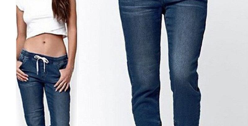 Elastic Waist Skinny Stretch Jeans