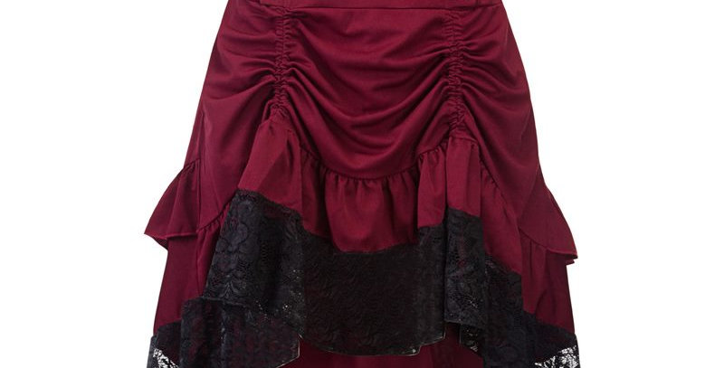 Red Retro Rockabilly Vintage Gothic Skirt