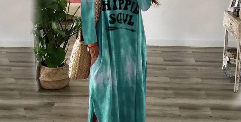 Gorgeous Green Hippie Soul Boho Tie Dye Print