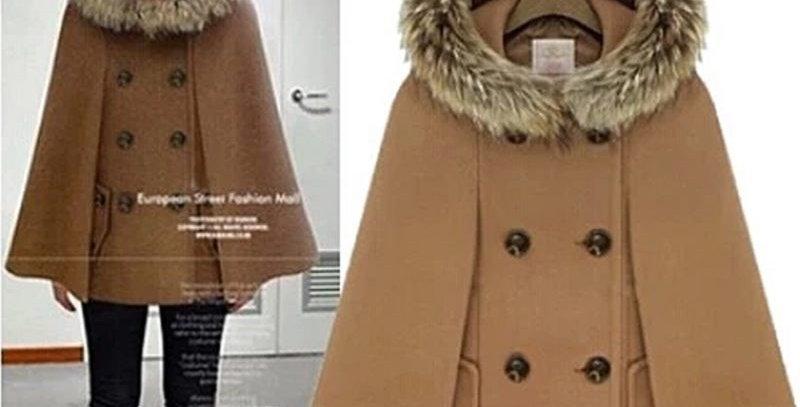 Gorgeous Faux Fur Armhole Hoodie Shawl